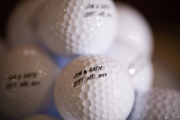golf balls as wedding favors