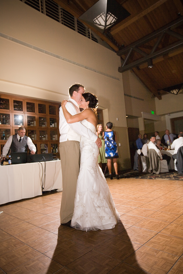slow dance with bride and groom