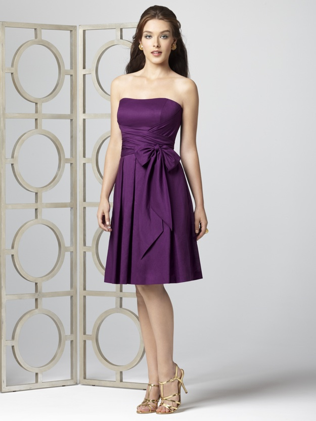 purple bridesmaid dress, short