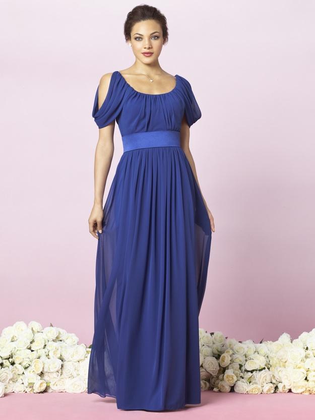 bridesmaid dress in royal blue