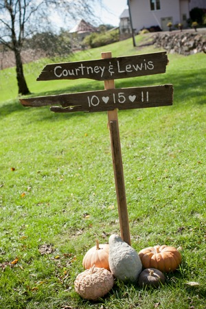 driftwood wedding sign fall theme