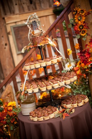 cupcake tower fall theme