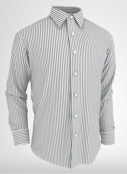 button down shirt with stripes