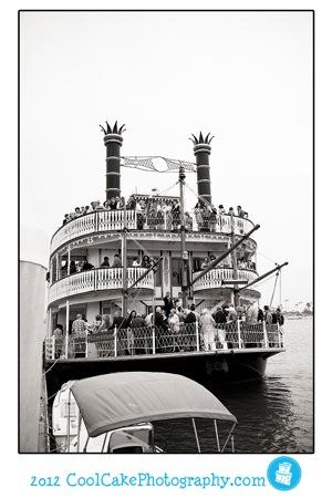wedding at sea on a boat