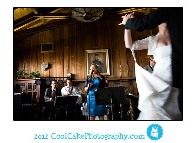 bride dances to jazz band at wedding