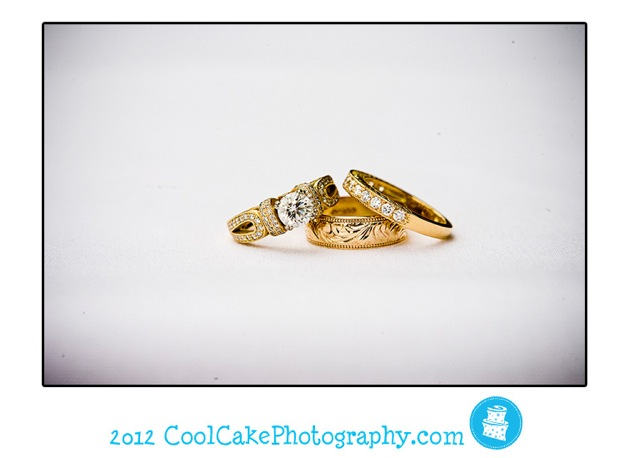 wedding rings, gold and diamond