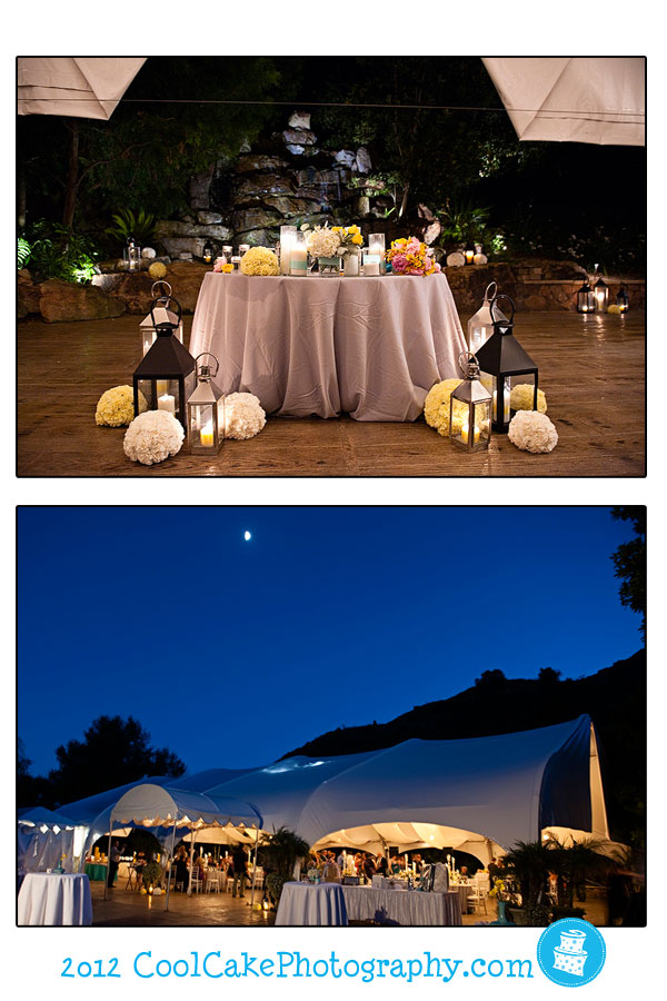 outdoor wedding reception site