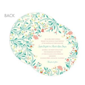 round wedding invitation