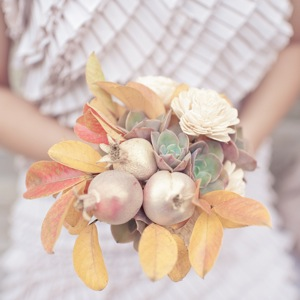 desert bouquet with yellow and gold