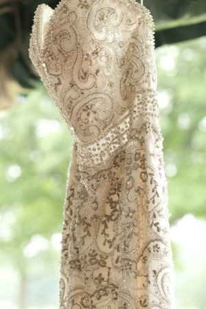 bejeweled wedding dress