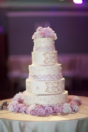 wedding cake with four tiers