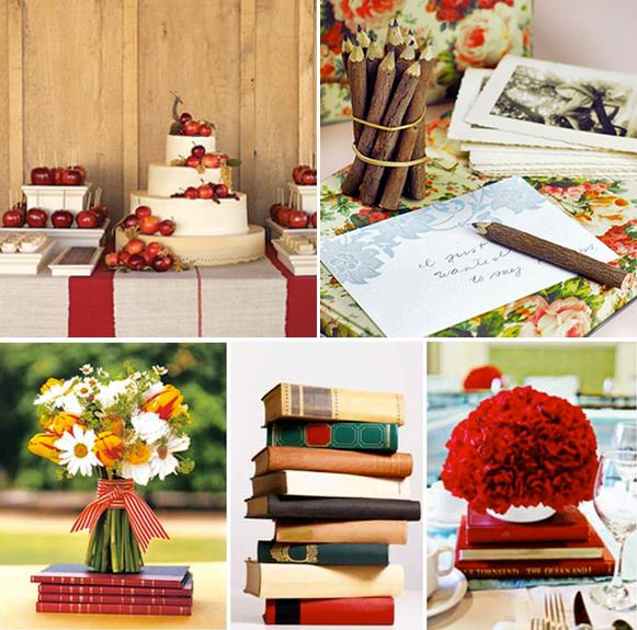 school themed wedding inspiration board