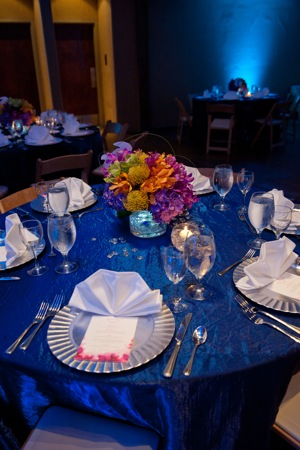 tablescape with ocean theme