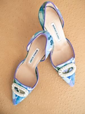 floral print wedding shoes