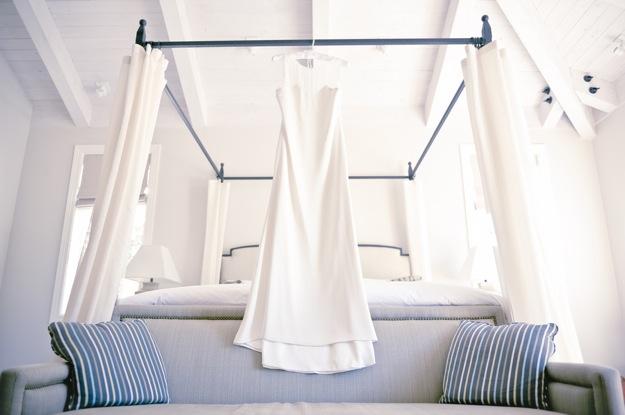modest and elegant sleeveless wedding dress