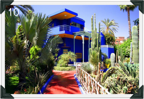 Blue hotel in Morocco