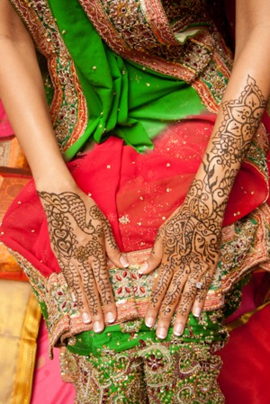 Indian henna art for wedding