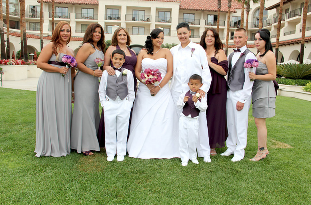 bridal party gay wedding