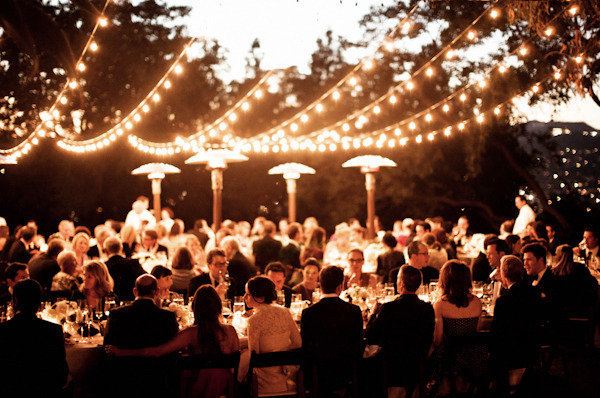 elegant wedding table outdoors