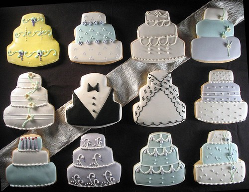 iced wedding cookies