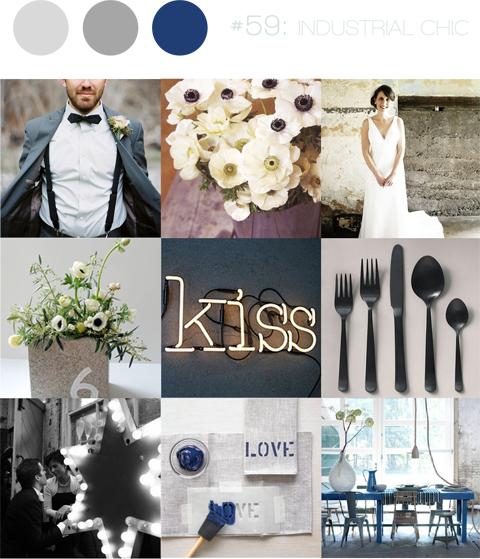 urban chic wedding inspiration board