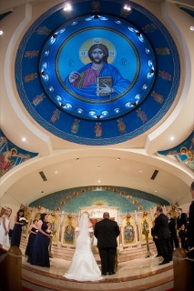 Greek Orthodox Church during wedding