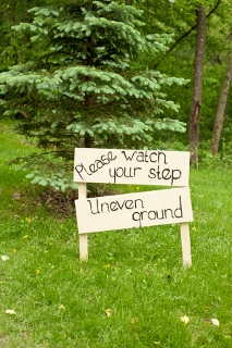 sign for outdoor wedding