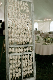 door used for table cards
