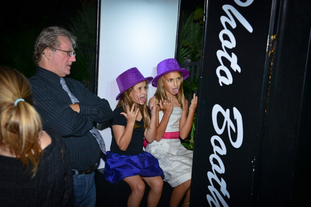 kids at wedding photo booth