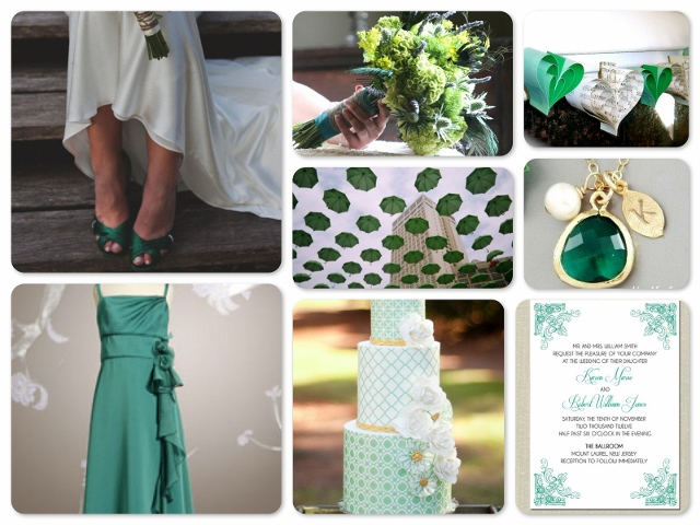 inspiration for emerald green wedding