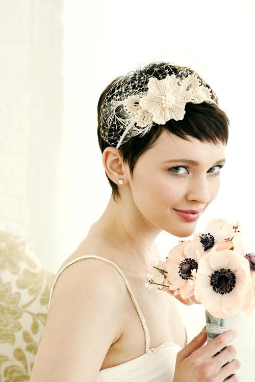 short bridal haircut