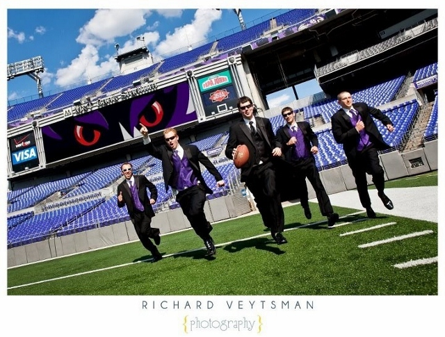 ravens wedding football stadium