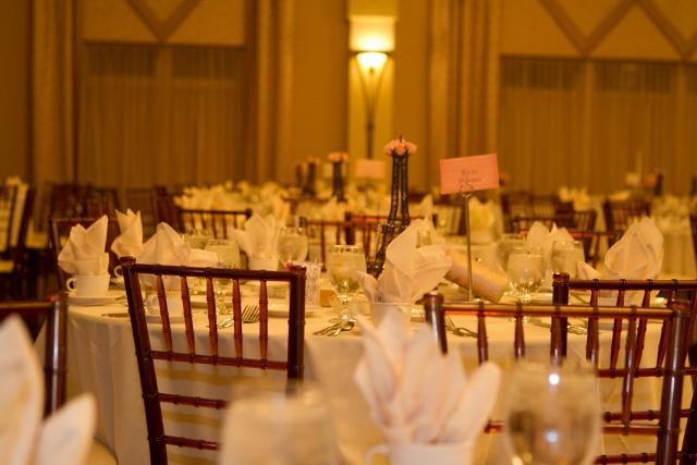 Paris themed wedding tables