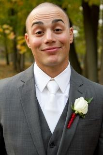 groom outdoors