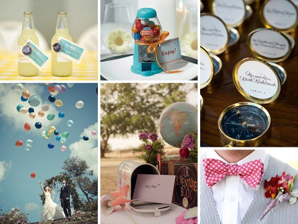 up themed wedding inspiration board