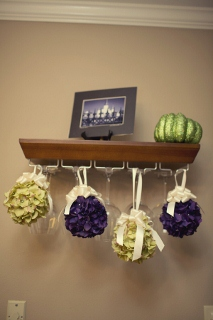 ball shaped bridesmaids bouquets