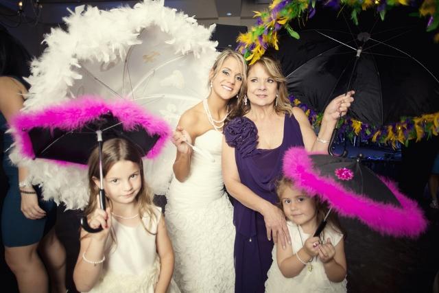 bride wedding kids parasol