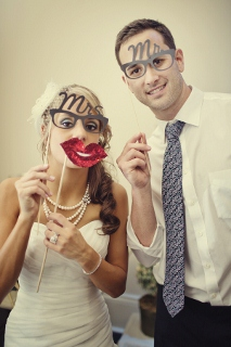 mr and mrs novelty glasses for photo booth
