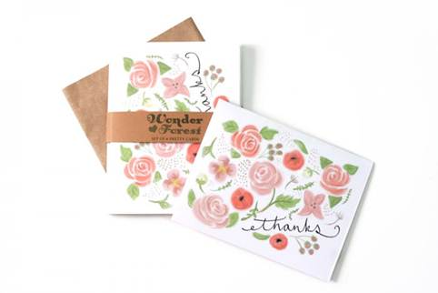 flowers on thank you notes