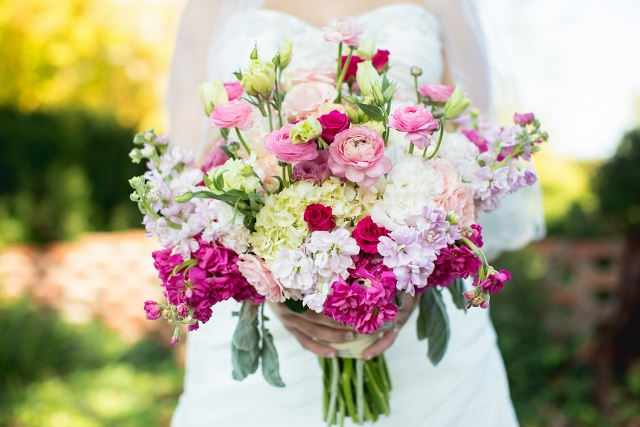 bridal bouquet large pink