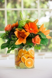 wedding centerpiece orange