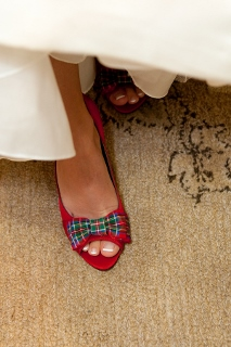 wedding shoes in red