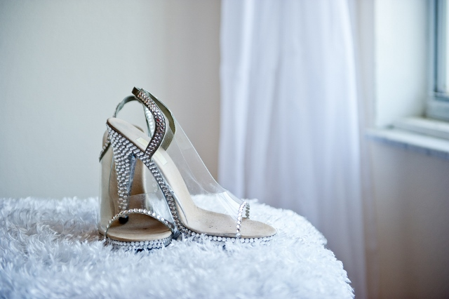wedding shoes clear