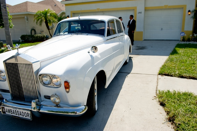 white rolls royce for wedding