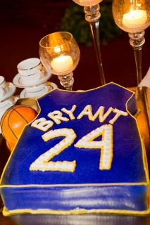 grooms cake as basketball jersey