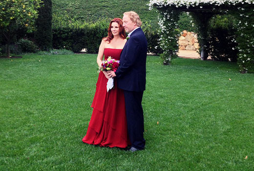 melissa gilbert red wedding dress