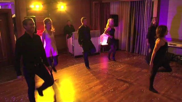 dancers at irish wedding