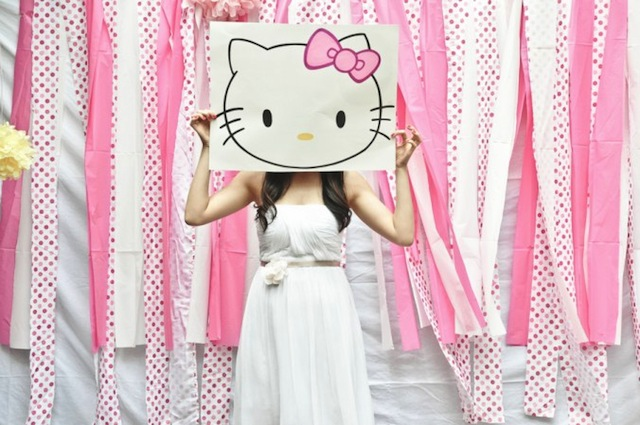 Hello Kitty photobooth prop