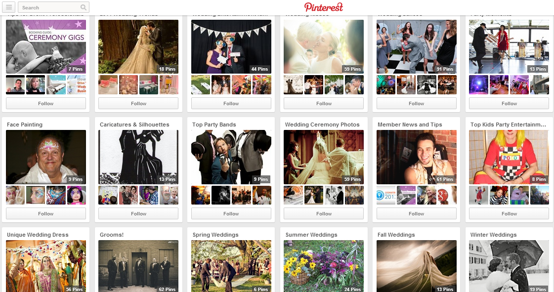 Pinterest boards can provide a wealth of ideas